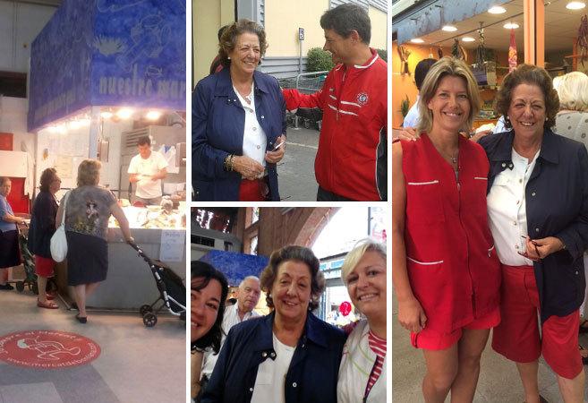 La ex alcaldesa de Valencia pasó la mañana haciendo comprar en...