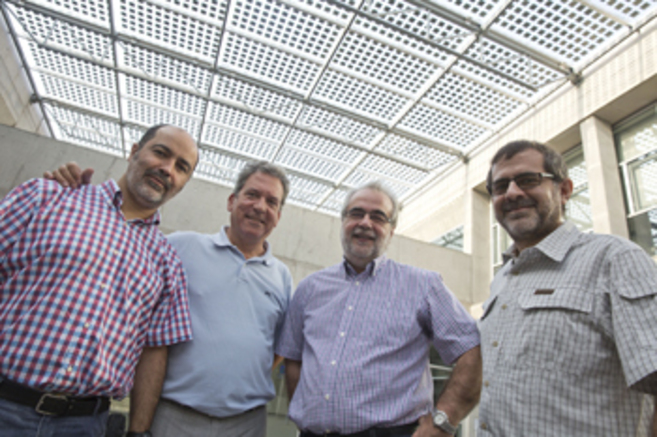 Antoni Bellver, Enrique Navarro, Jordi Adell y Carles Bellver.