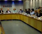 Reunión del comité de dirección de UDC hace unas semanas para...