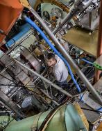 Un científico en uno de los laboratorios de Akademgorodok.