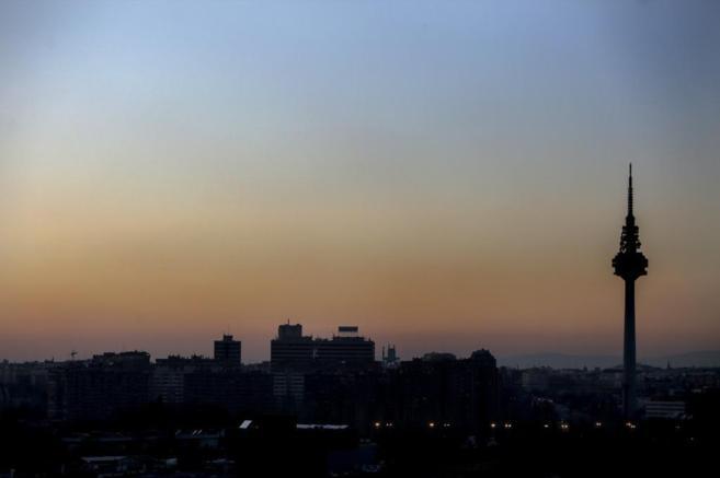 Vista de Madrid en un día con altos niveles de contaminación.