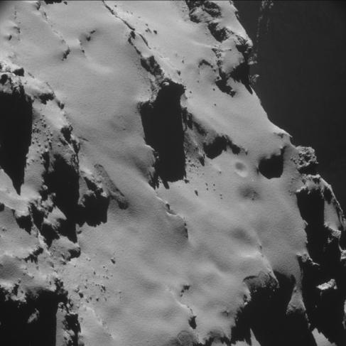 Detalle del cometa 67P/Churyumov-Gerasimenko