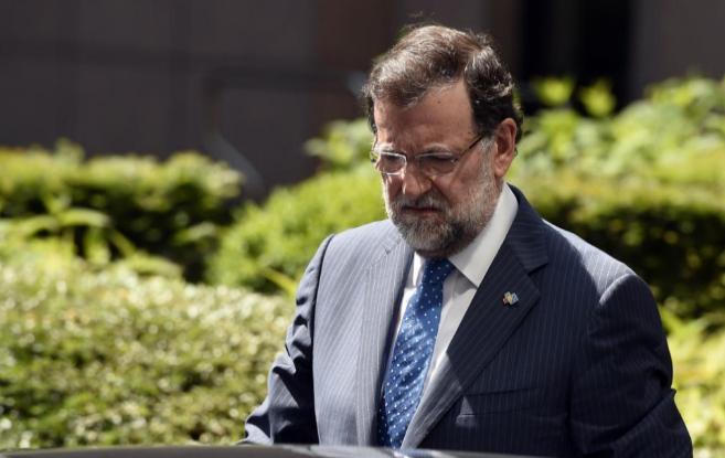 Mariano Rajoy el  pasado jueves en Bruselas.