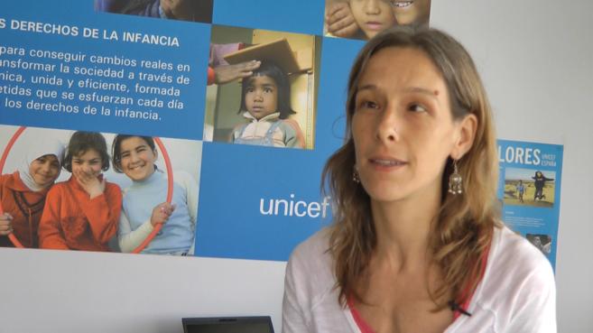 La especialista en protección infantil de Unicef Perú, Amanda...