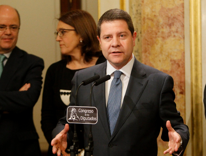 El actual presidente de Castilla La Mancha Emiliano García Page el...