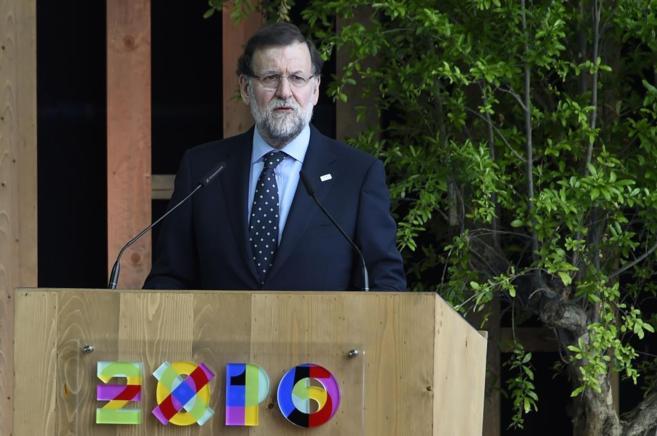 Mariano Rajoy, durante su visita a la Expo de Milán.