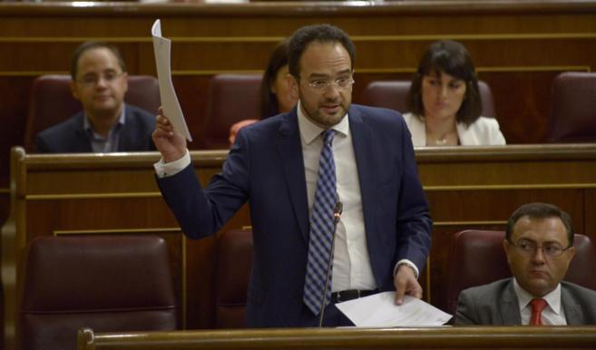 Antonio Hernando, portavoz del PSOE en el Congreso de los Diputados.