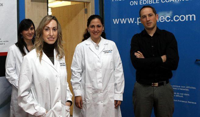 El equipo de Proinec, con su socio fundador, Javier Osés, al frente.