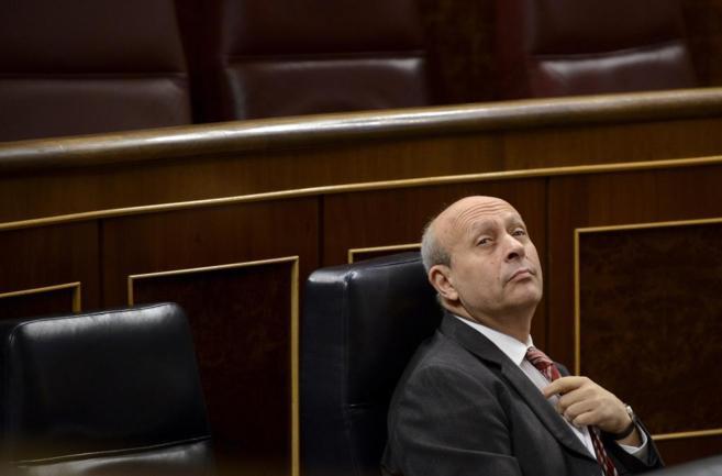 El ministro de Educación, José Ignacio Wert, en el Congreso de los...