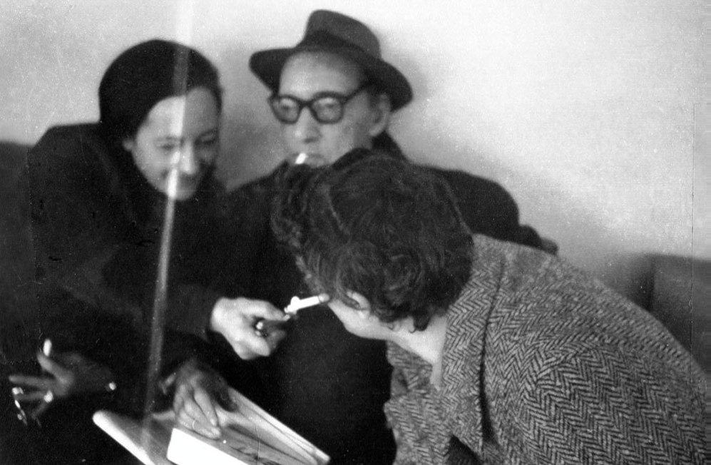Con Félix Grande y Francisca Aguirre, en marzo de 1975.