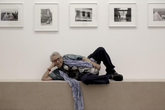 La fotógrafa catala Colita en su exposición en la galería...