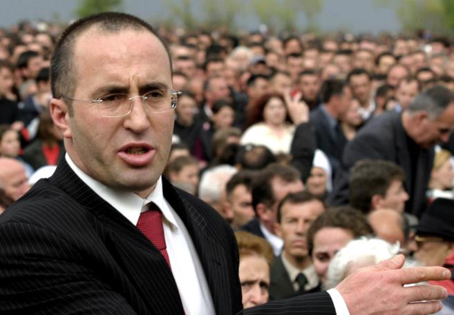 El ex primer ministro deKosovo Ramush Haradinaj participa en un acto...