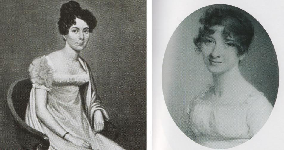 A la izquierda, Juana Smith, esposa del comandante de la armada...