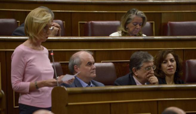 Irene Lozano y Rosa Díez, en el Pleno del Congreso.