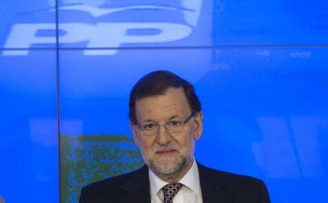 El presidente Mariano Rajoy en la Ejecutiva del PP.