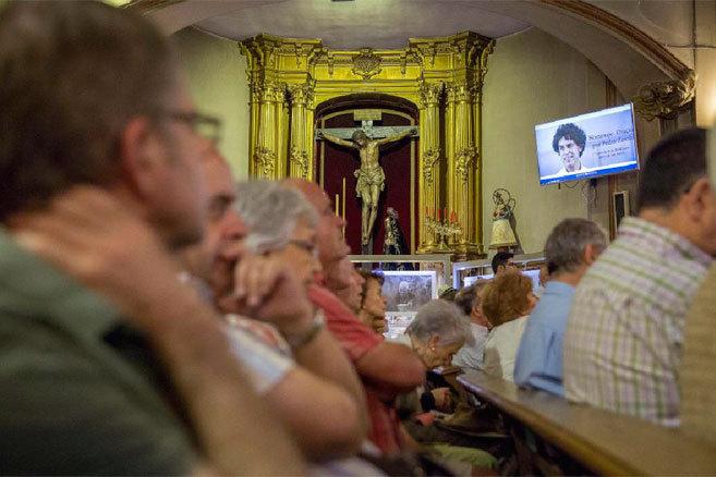 Oración por Zerolo en la Iglesia de San Antón.