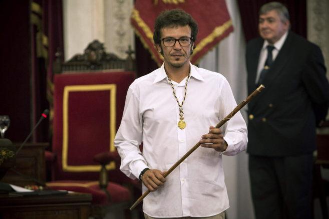 José María González 'Kichi', en su toma de posesión como...
