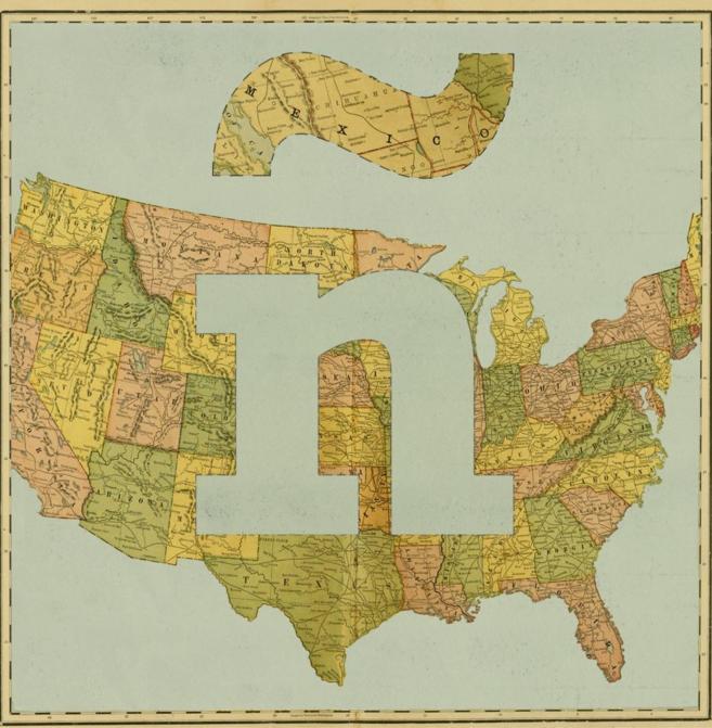 El mapa de Estados Unidos con una ñ española.