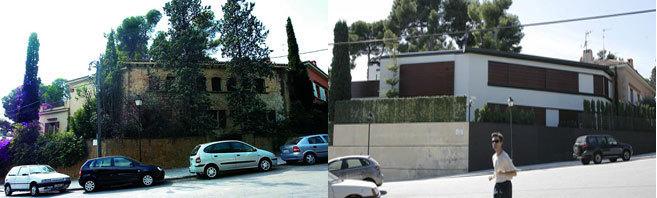 A la izquierda, una imagen de la casa de Pedralbes antes de la gran...