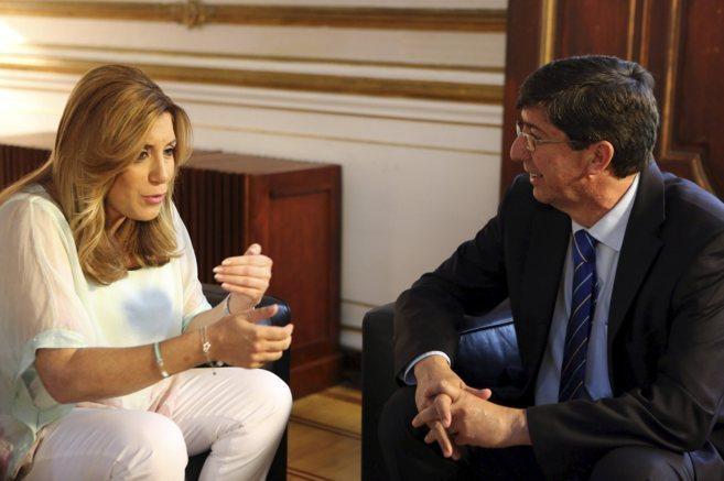 Susana Díaz, en San Telmo con el presidente del grupo parlamentario...