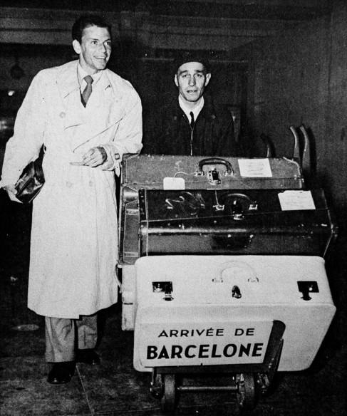 Frank Sinatra en una de sus visitas a España.