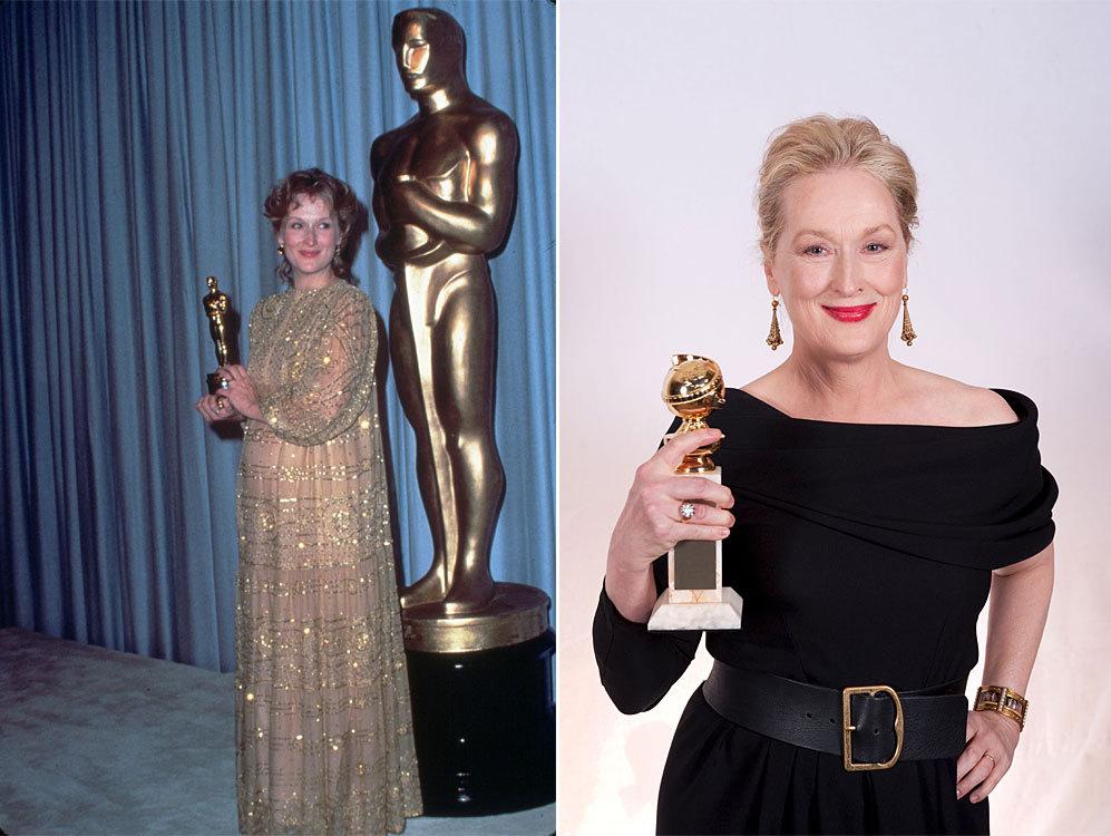 La actriz no sólo ostenta el récord de candidaturas a los Oscar (19,...
