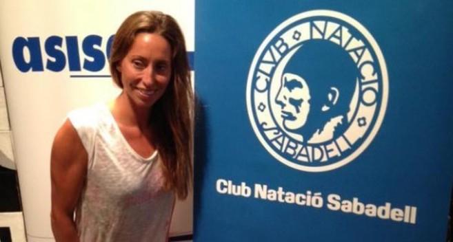 Gemma Mengual en las instalaciones del Club Natación Sabadell