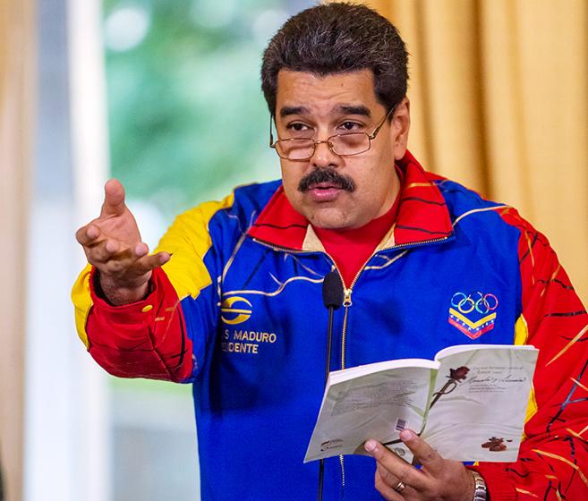 El presidente venezolano, Nicolás Maduro, en Caracas.