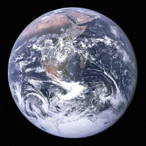 La Tierra vista desde la nave Apolo XVII.