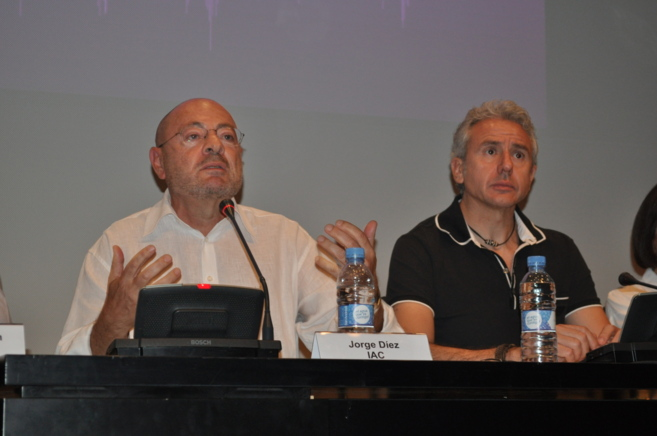 El presidente del Instituto de Arte Contemporáneo, Jorge Díez junto...