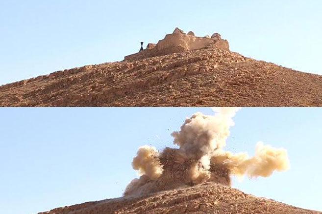 Imagen difundida por la oficina de información del IS en la provincia...