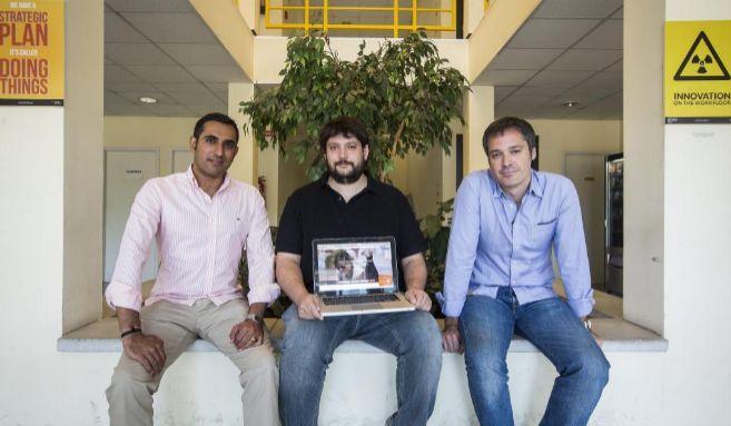 Los socios fundadores de Beroomers, Sunil Mahtani, Antonio Huerta y...