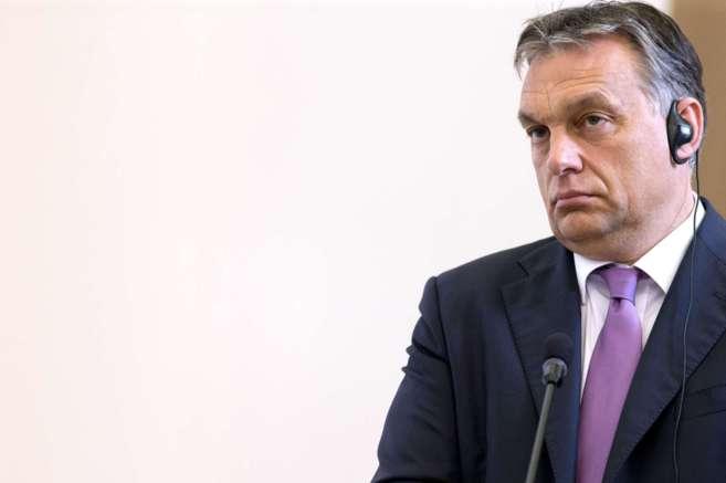 El primer ministro húngaro, Viktor Orban, durante una rueda de...