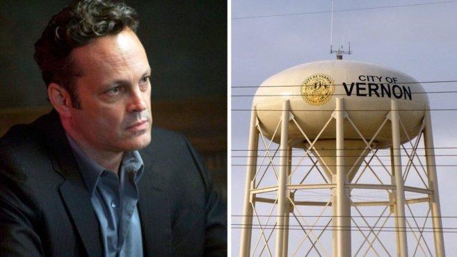 Vince Vaughn y un depósito de Vernon.