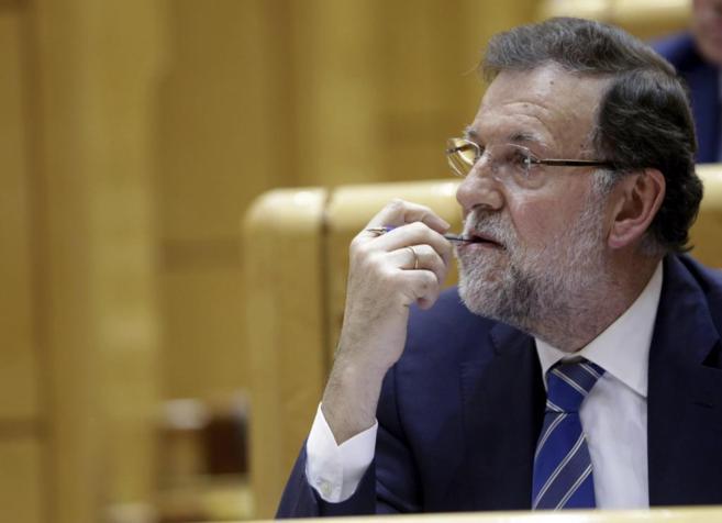Mariano Rajoy, hoy en el Senado.