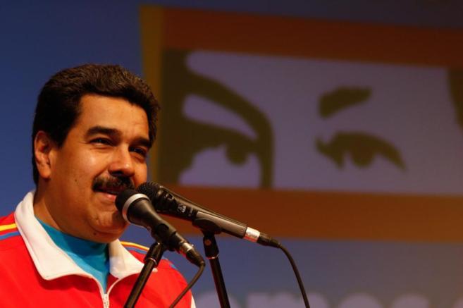 Maduro durante un reciente acto público.