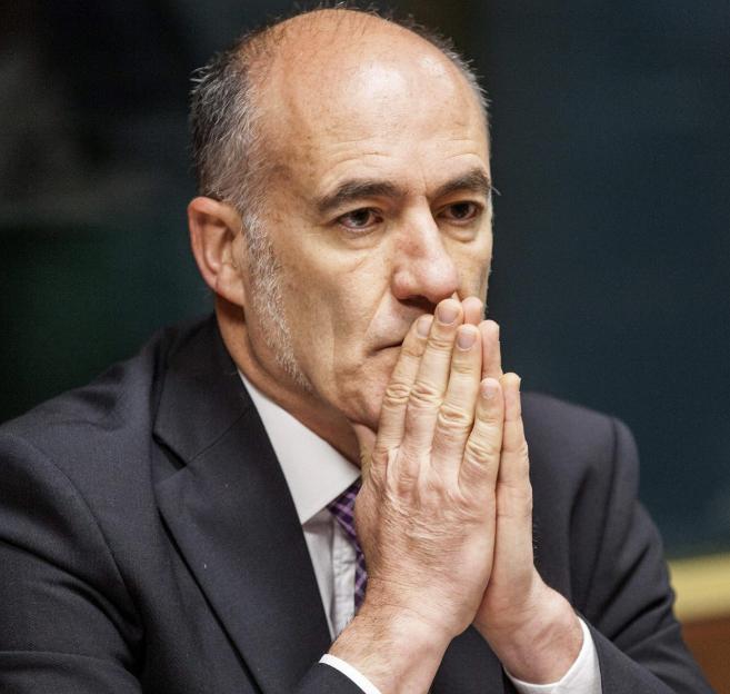 Iñaki Goirizelaia, rector de la UPV, en el Parlamento.