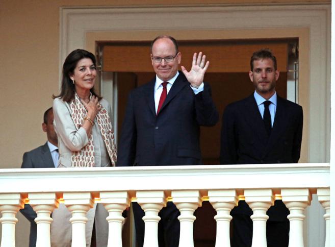 Carolina, Alberto y Andrea Casiraghi, anoche.