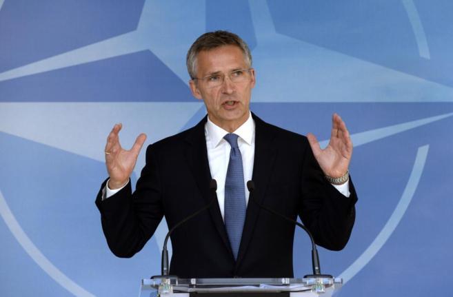 El secretario general de la OTAN, el noruego Jens Stoltenberg en...