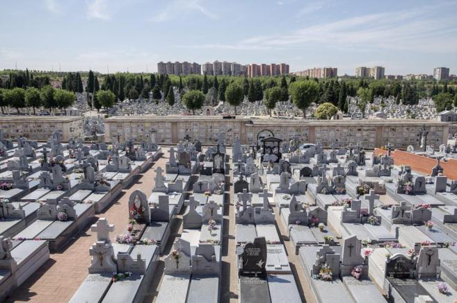 Cementerio de La Almudena, en Madrid.