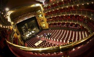 El escenario del Teatro Español.