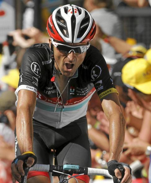 Zubeldia, en la Planche des Belles Filles, en el Tour de 2012