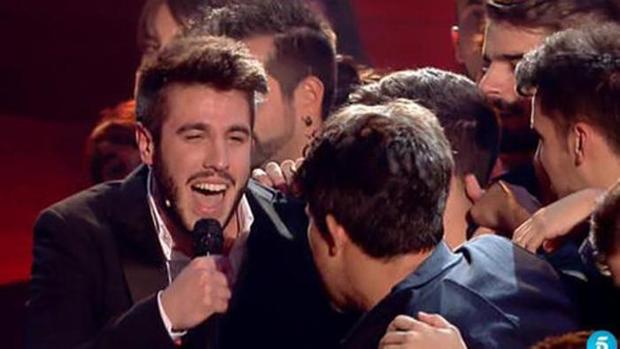 Antonio José tras ser proclamado vencedor.