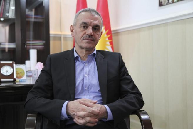Mustafa Sayid Qadir, ministro de Defensa del Kurdistán iraquí.