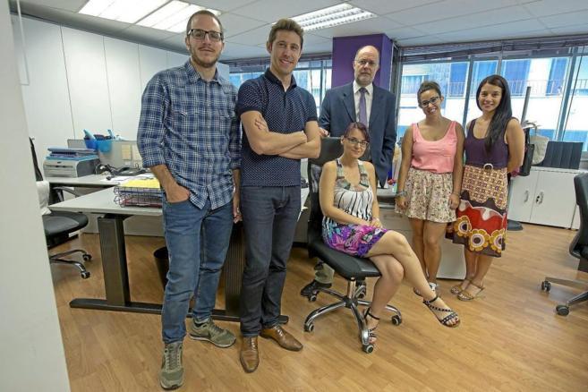 El equipo de Xpresa Geophysics en la sede de la empresa en Terrasa
