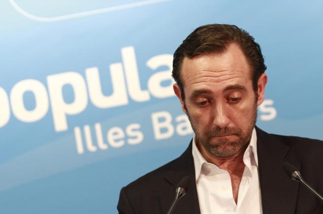 El presidente del PP balear en funciones, José Ramón Bauzá, durante...