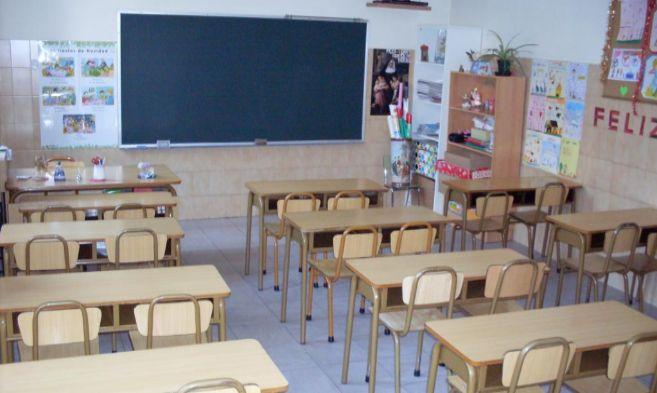 Un aula de Primaria vacía de un colegio privado concertado de Madrid.