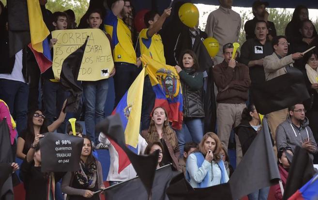 Oponentes al presidente Rafael Correa.