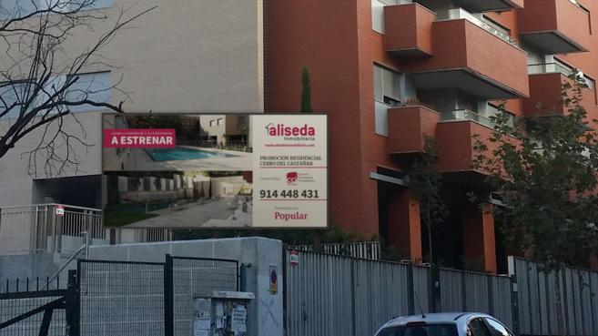 Promoción Cerro del Castañar que Aliseda comercializa en el barrio...