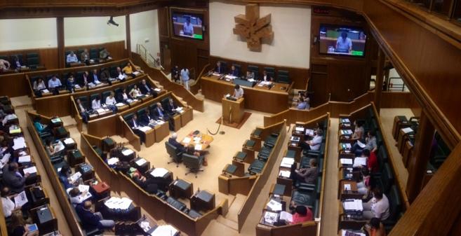Vista general del Pleno en el Parlamento Vasco